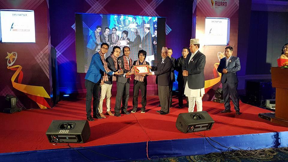 #Paaila Technology's product Pari Robot won - The Best Innovative              Product- in ICT Award 2017. It was awarded by honorable  Minister for              Information and Communications Mohan Bahadur Basnet. 52 startups participated.