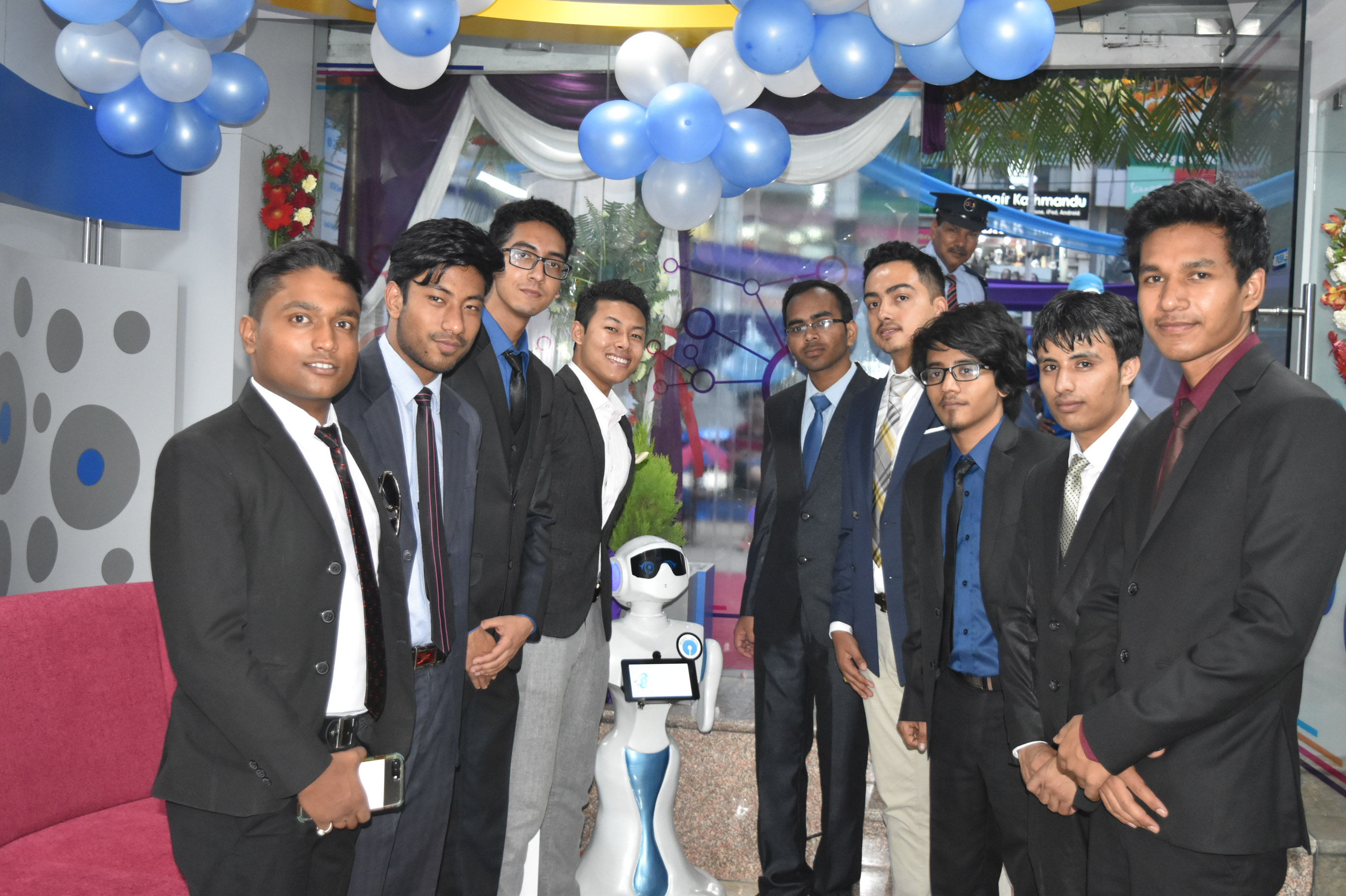Team Paaila with humanoid robot #Pari