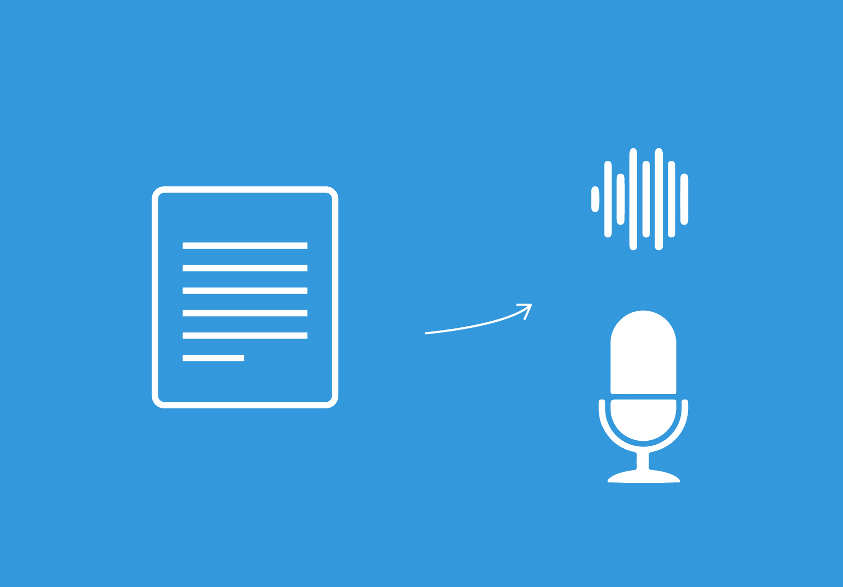 Icon for state of the art Nepali Text to speech or voice synthesis.