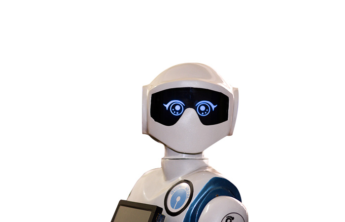 The humanoid Robot Pari is surround aware. It knows when someone enters a room and leaves it.